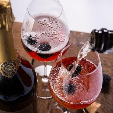 drink, cocktail, riedel, champagne, deutz, velkomstdrink, opskrift, drinksopskrift