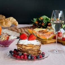 Pandekager, pandekageopskrift, Graham's, appelsin, grape, opskrift, fremgangsmåde, tilberedning, mad, vin