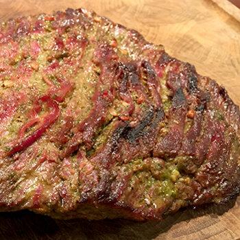 Marineret flankesteak, grill, opskrift, fremgangsmåde, tilberedning, mad, vin