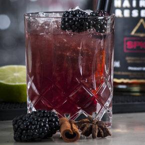 drink, cocktail, riedel, christmas rocks, rom, brombær, opskrift, drinksopskrift